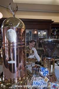 and vino! Photograph Image: making coffee montalcino tuscany italy