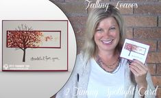 VIDEO: How to make this Falling Leaves 2-Timing Spotlight Card | Stampin Up Demonstrator - Tami White - Stamp With Tami Crafting and Card-Making Stampin Up blog
