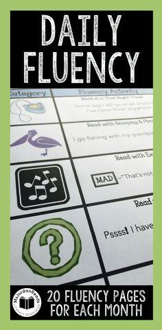 Daily Fluency Activi