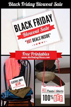 Black Friday bedroom fun!! I LOVE this idea!! #blackfriday #freeprintables