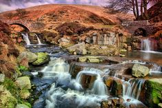 https://flic.kr/p/9nwLyZ | Three Shires Head or Panniers Pool. | I dare hardly post this, it looks a bit surreal to me.. I mentioned on an earlier posting that I had been using a new Cokin grad.. it's ok when used on it's own but together with a NDx8 it has a real pinkish tint. Normally it isn't too much bother but this time I've struggled to reduce the pink. At least those that haven't been can get an idea of the lay of the land.  It's a grand spot, the coming together of two different…