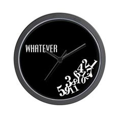 CafePress  WHATEVER  Unique Decorative 10 Wall Clock >>> Be sure to check out this awesome product.
