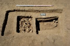 DAQAHLIYAH, EGYPT—Polish archaeologists digging at Tel Al-Farkha have unearthed four Pre-Dynastic tombs, according to a report in Ahram Online. Egypt's Minister of Antiquities Mamdouh Eldamaty announced that three of the tombs are in poor condition, but that the fourth, a small mastaba with two chambers, is well preserved. It contained pottery such as beer jars and bowls, stone vessels of different shapes and sizes, and carnelian beads, in addition to human remains.