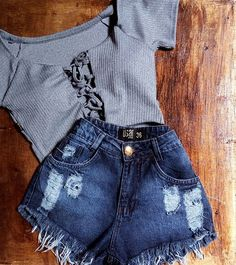 Cropped Canelado C/bj✨Tam. Dress Outfits, Girl Outfits, Casual Outfits, Fashion Outfits, Dresses, Cute Summer Outfits, Spring Outfits, Cute Outfits, Teenager Outfits