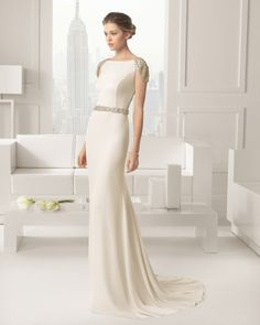 Spanish designer Rosa Clara is renowned for her feminine designs with strong, clean lines. We show you the Rosa Clara 2015 Bridal Collection Rosa Clara Wedding Dresses, 2015 Wedding Dresses, Bridal Dresses, Wedding Gowns, Wedding Blog, 2015 Dresses, Civil Wedding, Wedding Art, Modest Wedding