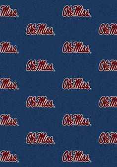 Ole Miss Rebels Area Rug Perfect for your den or living room, Licensed NCAA  Rug