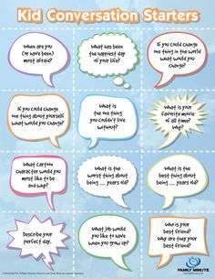 Conversation Starters for Kids | Family Minute