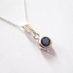 Blue Iolite Gemstone Solitaire Pendant by SendingLoveGallery