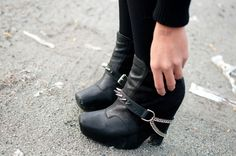 I love boots so much.  And boots with spikes and chains?  Oh yes, yes please.