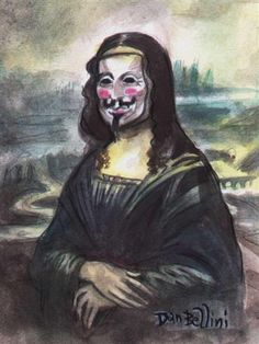 Dan Bellini - Occupy Mona Lisa -- Mona Lisa Parodies #Joconde