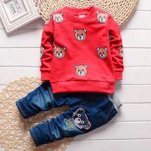 2016 Christmas red Infants baby clothing boys girls tracksuits cartoon shirt+ pants 2pcs kids boy clothes Children clothing set(China (Mainland))
