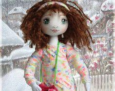 Cloth Doll Sewing e-Pattern & Tutorial Christmas por FancyDolls