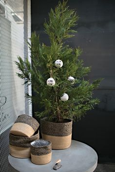 Minimal Christmas Modern Holiday Decor Houseplant Simple Colors Jute Contemporary Design & 41 best MODERN HOLIDAY DECOR images on Pinterest | Christmas crafts ...