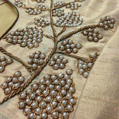 Pearl and Zari embroidery