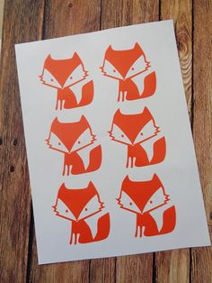 Vinyl Stickers - Vinyl Wall Decals - Vinyl Wall Stickers - Fox Decals - Fox Stickers - Fox Nursery Decor - Set of 24 pcs - Baby Shower Gift by MyStickers4You on Etsy https://www.etsy.com/uk/listing/279291460/vinyl-stickers-vinyl-wall-decals-vinyl
