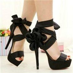 fashion, wedding shoes, tie, dress, black flowers, toe stiletto, black heels, sandal, walk