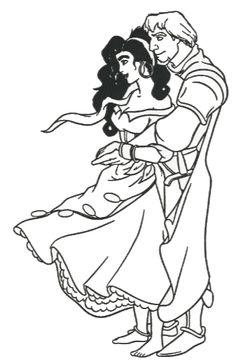 Disney Princess Esmeralda Coloring Pages