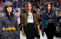 Bow-tie belts, bold but subdued colours, forest creatures, pencil skirts and studded gloves keep at Burberry Prorsum keep us enthralled. #FashionWeek