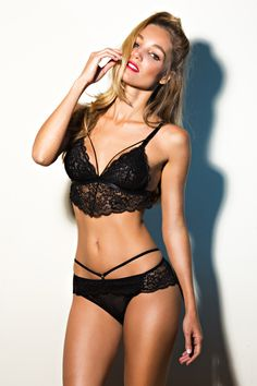 Gorgeous black lace underwear set