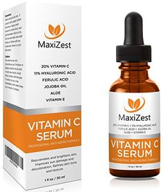 Vitamin C Serum For Face and Skin with 20 Vitamin C E Hyaluronic Acid Our 1 BEST Serum to Fade Sun Spots Discoloration Rejuvenates Brightens Skin Guaranteed Glow * You can get additional details at the image link. Vitamin C Mask, Best Vitamin C, Anti Aging, Best Serum, Organic Living, Face Serum, Skin Treatments, Acne Treatment, Skin Brightening