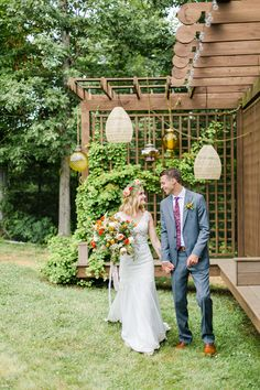 We love this adorable little corner at the vineyard.  The lanterns and that greenery make the perfect backdrop for wedding photos.  Venue: potomacpointwinery Photographers: kassielayne, aliraehaney   Styled Shoot Coordinator: klaynestyled Gown: avalaurennebride Florist: bergeronsflower Beauty: evergreenbeauty.nova & magnificent_mane17 Rentals: smthingvintage, dcreventrentals & paisleyandjade Tuscan Style, Old World, Vows, Real Weddings, Greenery, Lanterns, Photographers, Vineyard, Backdrops