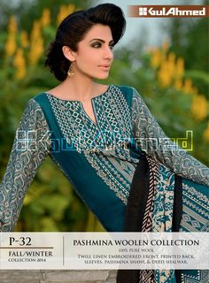 GulAhmed Fall-Winter Collection Single Embroidered for Ladies (12)