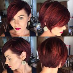 Reddish Brown Layered Pixie Bob