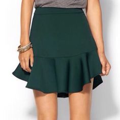 PIPERLIME Black Ruffle Skirt NWT! Unfortunately for me but fortunately for you, I purchased this on a final sale and it is too small.  I have it in black; not green.  Smoke / pet free home. Piperlime Skirts