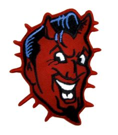 Classic Red Devil Patch Iron on Applique Alternative Clothing