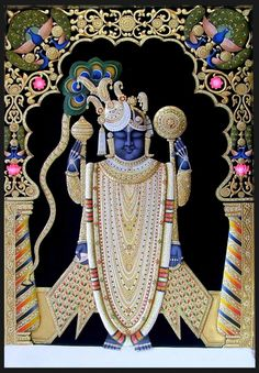 Tanjore paintings or Thanjavur paintings have been popular from century during the Marathas invasion to Southern india. Worli Painting, Kerala Mural Painting, Krishna Painting, Madhubani Painting, Krishna Art, Fabric Painting, Shree Krishna, Krishna Images, Indian Art Traditional
