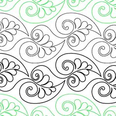 """Resplendent - Paper - 7.5"""" - Quilts Complete - Continuous Line Quilting Patterns"""