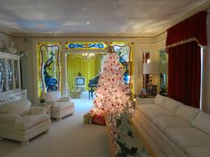 One of the most famous music icons in American History is Elvis Presley.  They still up the Christmas tree and decorate it true to that period of time. These are pictures from when I visited his home in Memphis. Not as big as you would expect.  Preview our children's history DVD click on pin