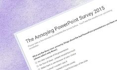 2015 Annoying #PowerPoint Survey: Conversation with Dave Paradi