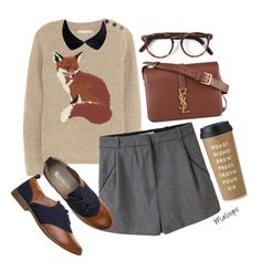 """""""//Why enjoy today when you could be worrying about tomorrow?- Spencer Hastings//"""" by maloops ❤ liked on Polyvore featuring Aubin & Wills, Acne Studios, Yves Saint Laurent, Cutler and Gross, Kate Spade, women's clothing, women, female, woman and misses"""
