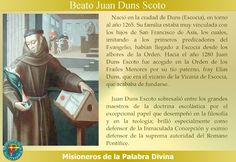 MISIONEROS DE LA PALABRA DIVINA: SANTORAL - BEATO JUAN DUNS SCOTO