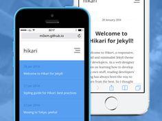 Hikari - Open-source theme for Jekyll