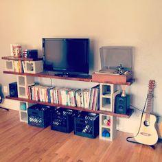 caractériELLE: Des meubles en parpaings.