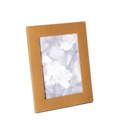 "HONORE LEATHER FRAME Holds a 5"" x 7"" photo Outside Dimentions  7"" x 9"""