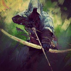 Fantasy Warrior, Fantasy Rpg, Medieval Fantasy, Fantasy Artwork, Dark Fantasy, Fantasy Character Design, Character Art, Medieval Archer, Rangers Apprentice