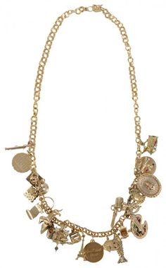 14 Kt. Gold Charm Necklace, 22 Charms
