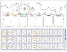 Resultado de imagen de fichas infantil 4 años con la fecha y el tiempo para imprimir
