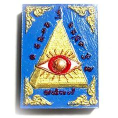 Duang Ta Pra Arahant Song Sap Badtiharn Yim Rap Sap Pim D Gammagarn Powders Hand Painted 3 Takrut - Luang Phu Khaw Haeng, $150 U.S.