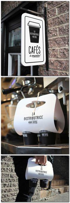 Food Packaging: LA DISTRIBUTRICE MONT-ROYAL Cafe