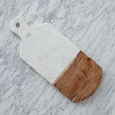 Marble + Wood Cutting Board