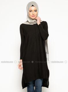 Triko Tunik - Siyah - Seyhan Fashion