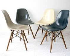 I my dream house there is every single piece of furniture designed by Charles and Ray Eames, and I intend to put those DSW chairs with Dowel Base in every room so I have one with me all the time