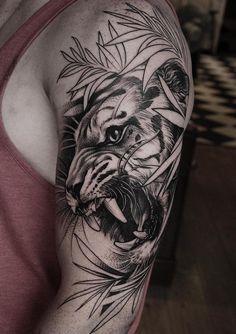 Daniel Baczewski Tiger Tattoo Informations About Tiger Tattoos - Tattoo Insider Pin You can easily u Arm Tattoos Tiger, Mens Tiger Tattoo, Tiger Tattoo Sleeve, Tiger Tattoo Design, Tattoos Arm Mann, Top Tattoos, Forearm Tattoos, Sleeve Tattoos, Maori Tattoos