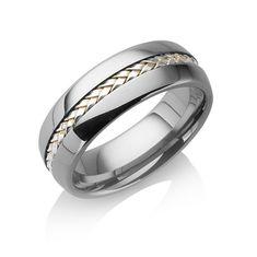 "Tungstino Ring ""Silber Inlay"" Wolframcarbid"