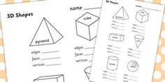 Teaching resources, Mathematical shapes and 2d and 3d shapes on ...
