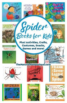 We have been studying spiders! It has been a lot of fun! So let us share with you some fantastic spider books for kids! We are also sharing a list of spider activities, costumes, snacks, games and toys!
